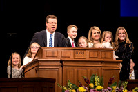 President and Sister Gilbert give their last devotional address at BYU-Idaho