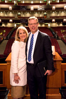 President and Sister Gilbert give their farewell devotional address at BYU-Idaho.