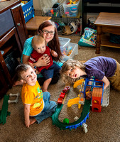 Pathway student Eva Sherrod and her children.