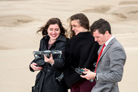 University Relations Photographers Ryan Chase, Courtney Thomas and Emily Gottfredson. Field trip to the sand dunes for a change of scenery and to get a group photo.