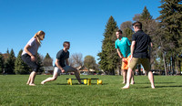 "Students play ""Spike Ball"" at Porter Park."
