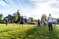 During the Spring Semester students can enjoy the nice weather by playing volleyball outside. 2017