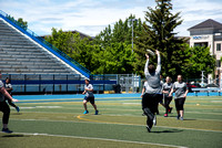 Students play Ultimate Frisbee on the Stadium Fields.