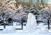 A nativity in front of the John Taylor Building celebrates the birth of Our Lord and Savior, Jesus Christ.