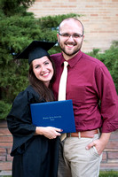 Graduate Emily Gottfredson with her fiance, Michael Card