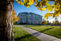 The trees around the Spori building are changing color and welcome in the Fall season.