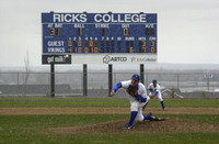 2001  A typical blustery Spring day in Rexburg for the Ricks College Baseball teams who had to endure a variety of incliment weather.