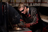 Student works in the Welding Lab.
