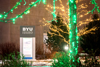 Christmas lights brighten up campus and bring in the Holiday Season. 2017