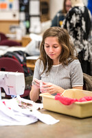Genet Orme teaches Apparel Entrepreneurship to students on campus.