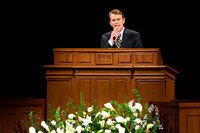 Randall L. Ridd, Second Counselor of the Young Men General Presidency, addresses young adults at the Worldwide Devotional held in the BYU-Idaho Center on Sunday, 11 January, 2015. Photo by Ryan Chase