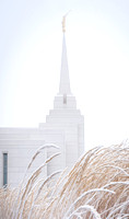 The Rexburg temple on an icy December morning. 2017