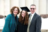 Graduate, Lana Strathearn, on Graduation Day with her family and loved ones.
