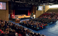 Convocation for College of Physical Sciences and Engineering in the Hart Auditorium.