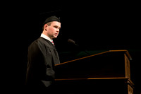 Student speaker Joshua Nygaard - Convocation for College of Physical Sciences and Engineering in the Hart Auditorium.