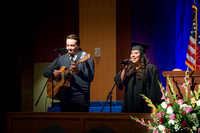 "Convocation for College of Language and Letters. Musical number: ""Thsi Is My Year"", vocal solo by Adrianna Smith, International Studies, accompanied by Josh Richardson."