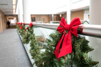 The Kimball Building still has some remnants of Christmas decoration at the start of the Winter 2018 semester.