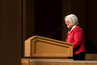 Sister Neill F. Marriott, Second Counselor in the Young Women General Presidency, speaks at the Women's Meeting for BYU-Idaho women employees and employees spouses.