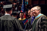 Convocation for the College Agriculture and Life Sciences. Awarding of diploma covers by Elder Zenger, President Henry J. Eyring and others.