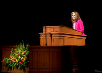 Sister Kelly Eyring speaks at Devotional the beginning of Spring Semester in the BYU-Idaho Center. April 2018