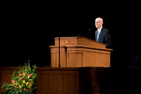 President Henry J. Eyring gives the Devotional address at the beginning of Spring Semester in the BYU-Idaho Center. April 2018