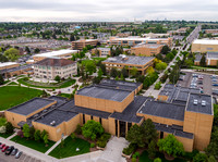 Aerial photo of BYU-Idaho campus looking South.