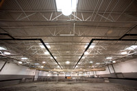 Agricultural Science Center Arena with the light fixtures.