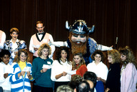 Group of Students Perform at Ricks College with the School Mascot, The Viking - Center Stage - Nov 1988