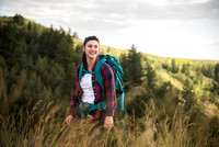 Natalie Myers, a BYU-Idaho student enjoys hiking. Admissions Viewbook. June 2018