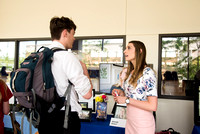 More than 90 communication seniors display their projects and talents for the public's enjoyment in the BYU- Idaho Center.