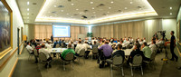 IT employees gather for a training meeting in the MC Special Events Room.
