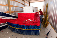 Preparing BYU-Idaho Float for the 4th of July Parade in Rexburg.