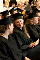 Graduates gather for the Convocation of the Home and Family in the Taylor Chapel.