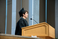 Darla Jones, Marriage and Family Studies graduate speaks at the Convocation of the Home and Family in the Taylor Chapel.