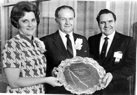 Clarke recieved a Distinguished Service Award on May 6, 1971 for his years of service with his wife LaRae Clarke by the Ricks College Alumni Association.