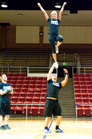 The Brigham Young University-Idaho Spirit team show off their moves in a variety of acrobatic stunts, sheer strength, and dancing styles in their end of the semester showcase.