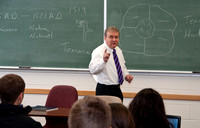John Ivers, Dean of the College of Language & Letters teaches a Foundations class on World Civilizations.