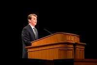 Brother Randall L. Ridd, Second Counselor in the Young Men general presidency, speaks in the BYU-Idaho Center for the World Wide Devotional.