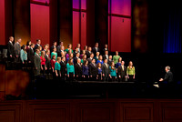 The BYU-Idaho Collegiate Singers perform during the World Wide Devotional.