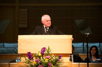 Elder W. Rolfe Kerr, Emeritus Member of the First Quorum of the Seventy, gives Friday devotional.