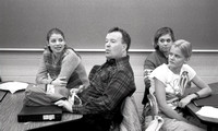 Elementary Education students practice in the classroom. December 1999.