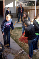 Students from the BYU-Idaho YSA 6th ward doing service.