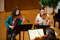 A string quartet perform at the Brigham Young University-Idaho Department of Music showcase.