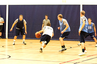 Students play ward basketball in the I-Center