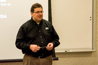 SK Tools representative Rob Conrad speaks to Automotive and Engineering students in the Austin Builiding.