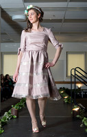 The annual fashion show at Brigham Young University-Idaho took place in the Benson Building. Students showed off dresses, bouquets, and cakes that could be used for a wedding.