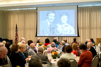 Ricks College Alumni gather to honor John and Trudy Bidwell at an Emeritus Breakfast.