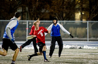 BYU-Idaho students participate in the ultimate frisbee championship game held at the stadium