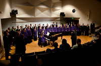 The Collegiate Singers perform at the Music Department Showcase.