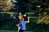 BYU-Idaho students play ultimate frisbee on BYU-Idaho campus upper playing fields